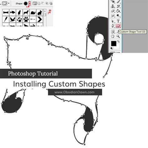 how to install patterns in photoshop cs6 on a mac youtube installing using photoshop custom shapes obsidian dawn