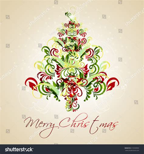 christmas greeting cardvector illustration stock vector