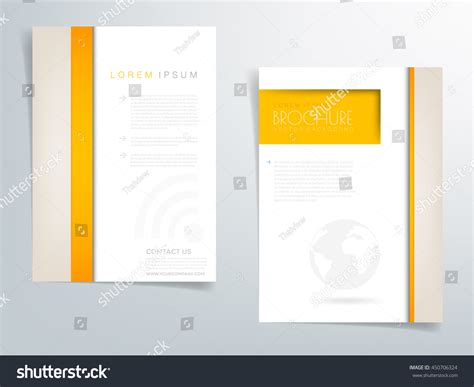 brochure header design vector yellow brochure template flyer background header stock
