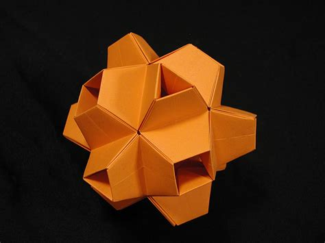 Origami Cuboctahedron - truncated stellated cuboctahedron 2 modular origami a