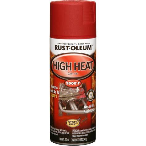 high heat paint colors rust oleum automotive 12 oz high heat enamel flat