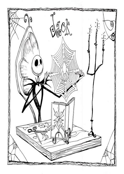dibujos  colorear pesadilla antes de navidad dibujosparacoloreareu