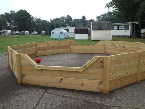 make your own portable pit 9 best images about octoball on garden fencing