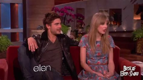 ellen degeneres zac efron taylor swift and zac efron serenade to ellen youtube
