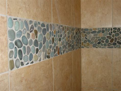 river rock bathroom tile pebble stone tile for shower floor