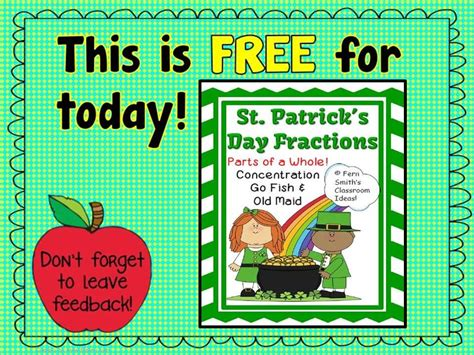throwback thursday st s day throwback thursday s free fractions for st patricks concentration go fish for