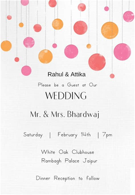 indian wedding card templates free wedding wording sles and ideas for indian wedding