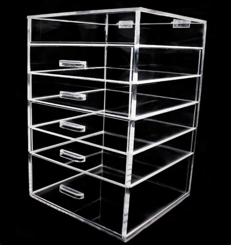 6 drawer acrylic makeup organizer clear style