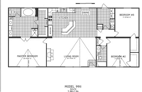 floor palns 3 bedroom floor plan c 9911 hawks homes manufactured