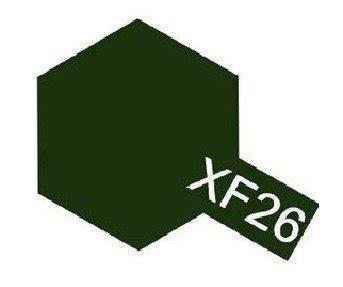Tamiya Acrylic Xf 26 Green tamiya 81326 acrylic xf 26 green 23ml bottle