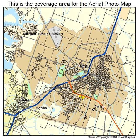 temple texas map aerial photography map of temple tx texas