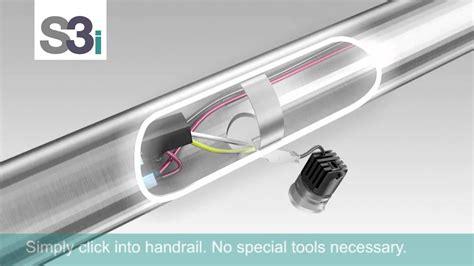 led handrail lighting system led handrail lighting youtube