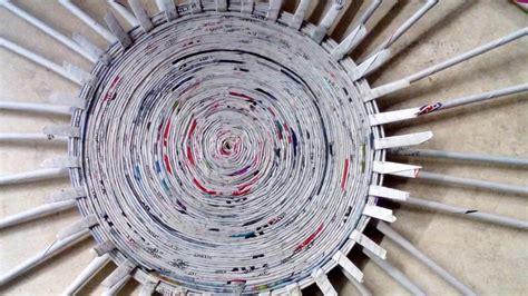 como hacer cestas de papel de periodico como hacer una cesta de papel periodico o revista