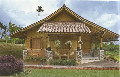 desain gapura dari bambu 5 desain rumah bambu bernuansa alam