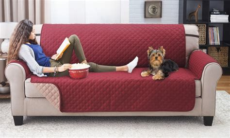 sofa saver dog up to 67 off on reversible furniture protector groupon