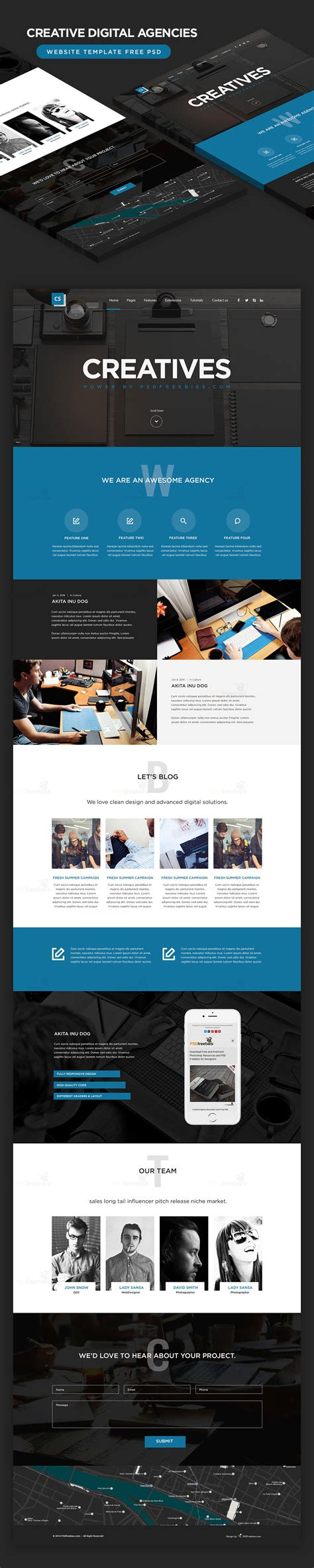 High Quality 50 Free Corporate And Business Web Templates Psd Download Download Psd Digital Agency Website Templates