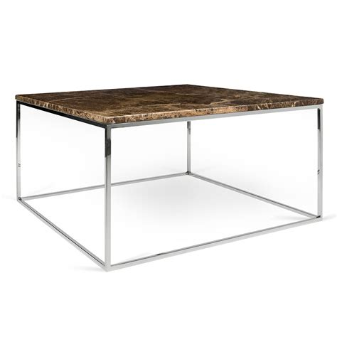 modern marble table l gleam brown marble chrome coffee table by temahome eurway