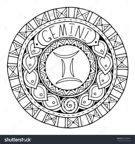 zodiac mandala coloring pages zodiac sign of gemini 350998850