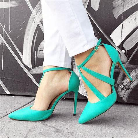 teal shoes heels shoes heels heel teal seagreen pointed toe pumps
