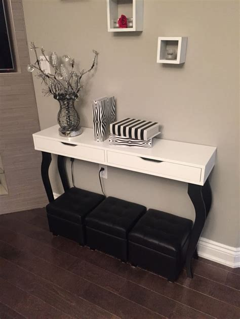console hack diy ikea hack console table alex shelf with drawers and 4