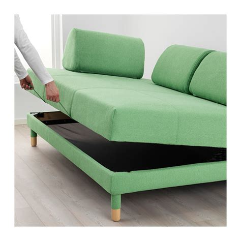 green sleeper sofa flottebo sleeper sofa lysed green ikea