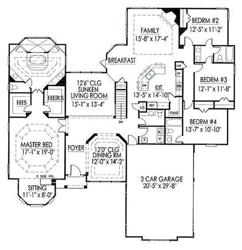 House Plans With Sunken Living Room by Floor Plan With Sunken Living Room New House Ideas