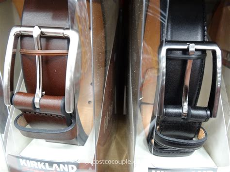 kirkland signature men s italian leather belt