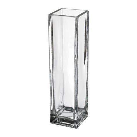 Rektangel Vase by Rektangel Vase Clear Glass