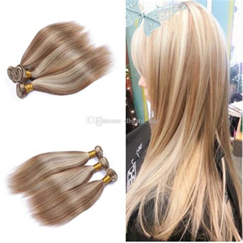 brown and blonde weave 9a brown blonde highlight ombre malaysian virgin hair