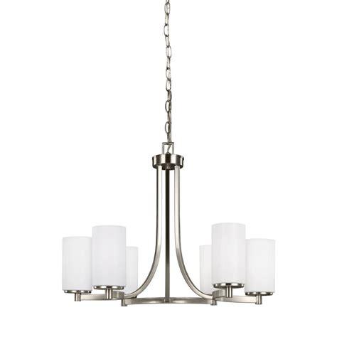 sea gull lighting chandelier sea gull lighting hettinger 6 light brushed nickel