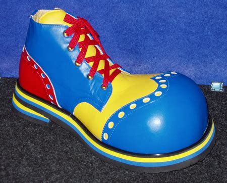 diy clown shoes shoebees toe wingtip clown shoes blue yellow