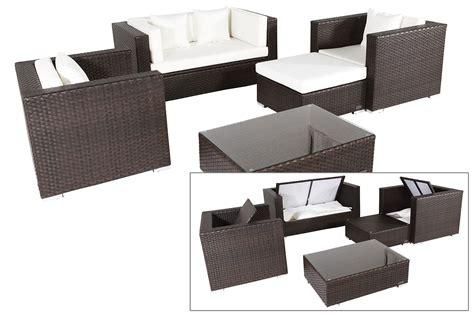 polyrattan sofa mit stauraum outflexx gartenm 246 bel sitzgruppe aus polyrattan