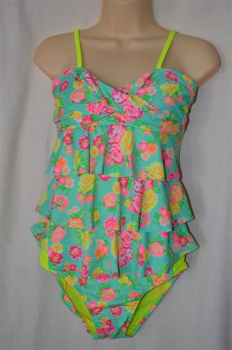 7 Swimsuits For 7 Types by Justice 7 10 New Tankini Swimsuits Neon Floral