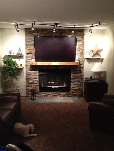 cozy stacked slate fireplace remodel it