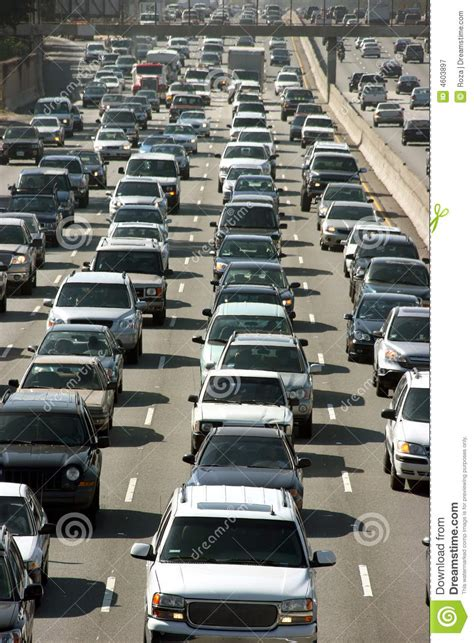 truck jam los angeles traffic jam in los angeles royalty free stock photography