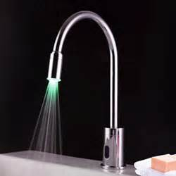 Motion Sensor Faucet Faucets Images Contemporary Brass Led Sensor Bathroom Sink