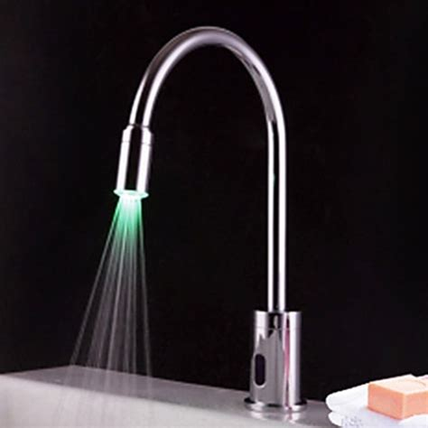 led bathroom faucet contemporary brass led sensor bathroom sink faucet chrome