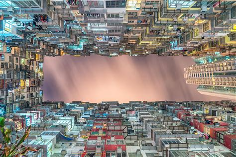 hong kong apartment buildings looking up dense by steven