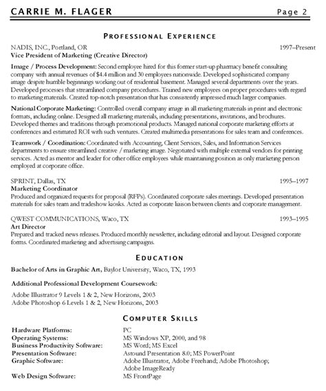 exle of a marketing resume marketing resume exles amazing 10 writing