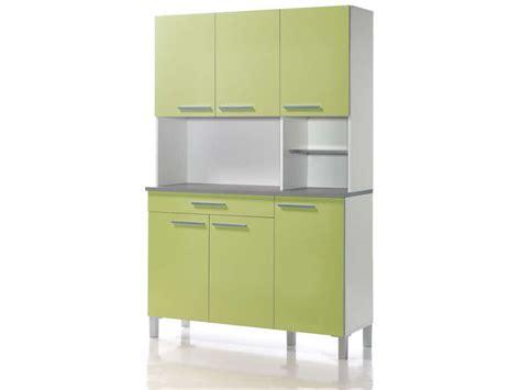 buffet haut cuisine buffet de cuisine 120 cm debora coloris blanc vert acide chez conforama