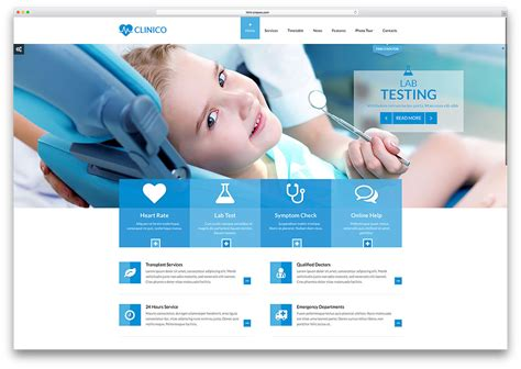 Medical Website Design Googel Ad Clinic Website Design Template