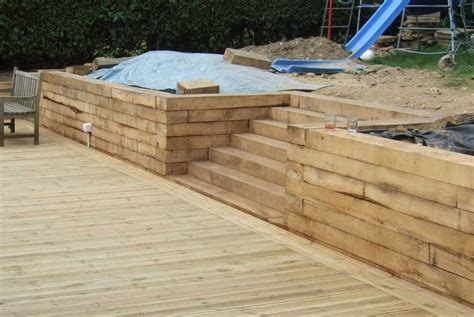 Joining Railway Sleepers by New Oak Railway Sleepers From Railwaysleepers