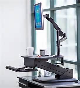 Monitor Desk Clamp Mount It Sit Stand Desk Standing Desk Height Adjustable