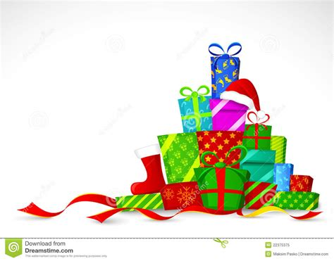 christmas gifts vector illustration stock vector image