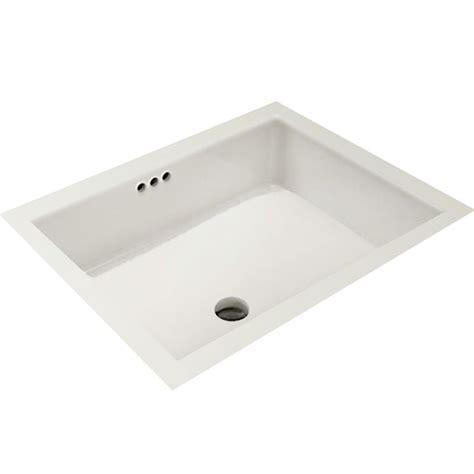 mirabelle sinks mirabelle miru1713wh white 17 1 8 quot porcelain undermount bathroom sink with overflow