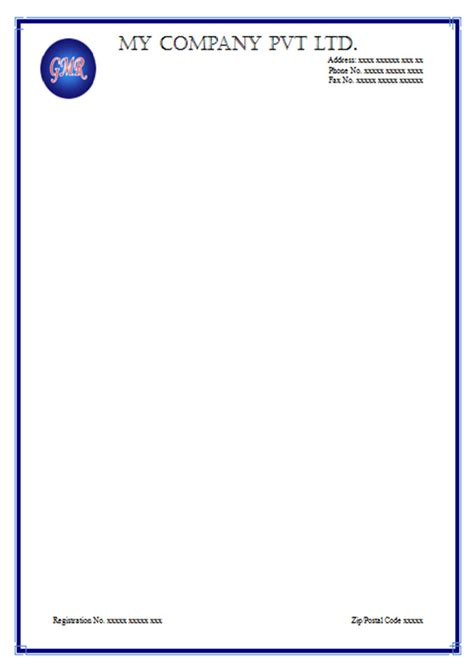 free 5 letterhead exles template word business