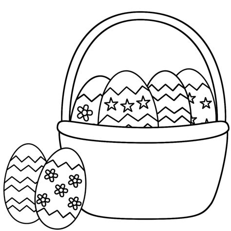 Kaos Bunny And Egg Basket Drawing top 10 free printable easter basket coloring pages