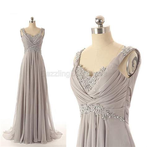grey prom dresses beaded bridesmaid dresses