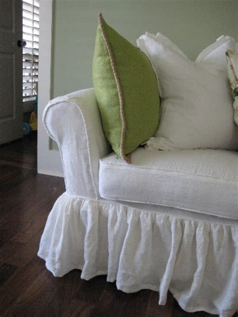 white linen sofa slipcover cottage and cabin interiors and collections white linen