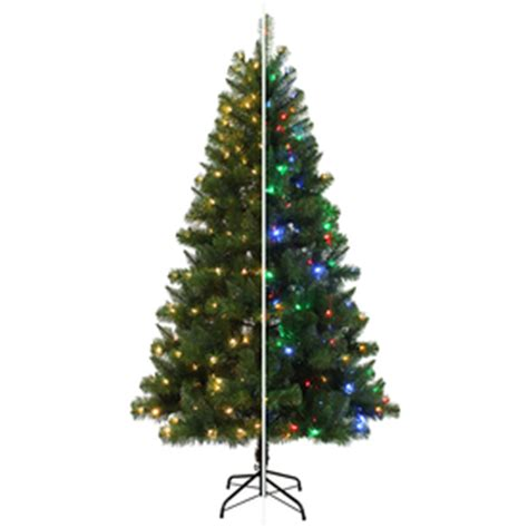 shop holiday living 6 5 ft pre lit alpine artificial